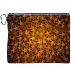 Gold Stars Canvas Cosmetic Bag (XXXL)