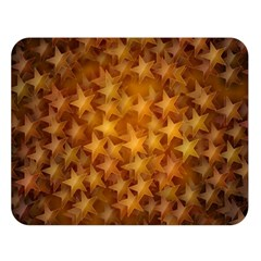 Gold Stars Double Sided Flano Blanket (Large)