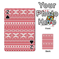 Fancy Tribal Borders Pink Playing Cards 54 Designs