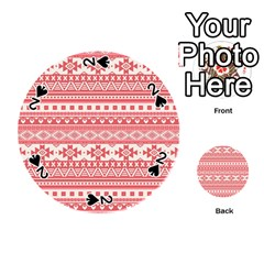 Fancy Tribal Borders Pink Playing Cards 54 (Round)