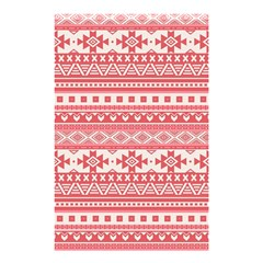 Fancy Tribal Borders Pink Shower Curtain 48  x 72  (Small)