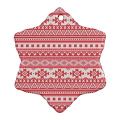Fancy Tribal Borders Pink Ornament (Snowflake)