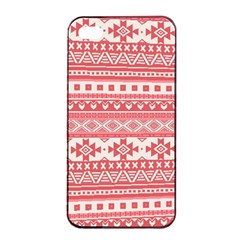 Fancy Tribal Borders Pink Apple iPhone 4/4s Seamless Case (Black)