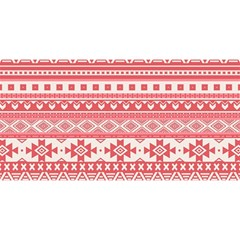 Fancy Tribal Borders Pink YOU ARE INVITED 3D Greeting Card (8x4)