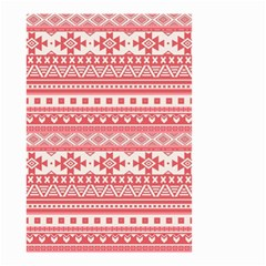 Fancy Tribal Borders Pink Small Garden Flag (Two Sides)