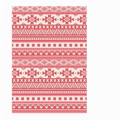 Fancy Tribal Borders Pink Large Garden Flag (Two Sides)