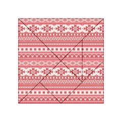 Fancy Tribal Borders Pink Acrylic Tangram Puzzle (4  x 4 )
