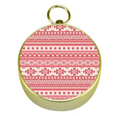 Fancy Tribal Borders Pink Gold Compasses