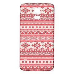 Fancy Tribal Borders Pink Samsung Galaxy S5 Back Case (white)