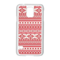 Fancy Tribal Borders Pink Samsung Galaxy S5 Case (White)