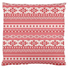 Fancy Tribal Borders Pink Standard Flano Cushion Cases (One Side)
