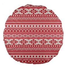 Fancy Tribal Borders Pink Large 18  Premium Flano Round Cushions