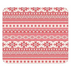 Fancy Tribal Borders Pink Double Sided Flano Blanket (small)