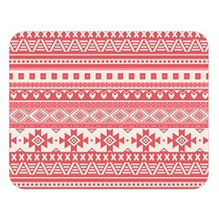 Fancy Tribal Borders Pink Double Sided Flano Blanket (large)