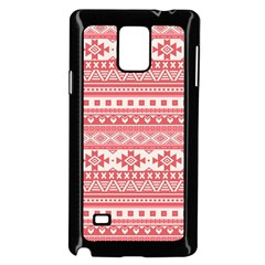 Fancy Tribal Borders Pink Samsung Galaxy Note 4 Case (Black)