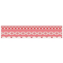 Fancy Tribal Borders Pink Flano Scarf (small)