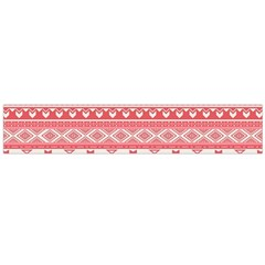 Fancy Tribal Borders Pink Flano Scarf (Large)