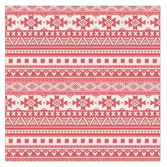 Fancy Tribal Borders Pink Large Satin Scarf (Square)