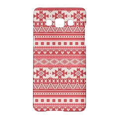 Fancy Tribal Borders Pink Samsung Galaxy A5 Hardshell Case