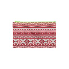 Fancy Tribal Borders Pink Cosmetic Bag (XS)