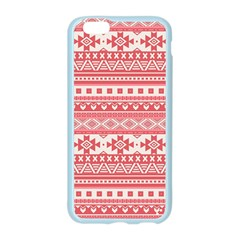 Fancy Tribal Borders Pink Apple Seamless iPhone 6 Case (Color)