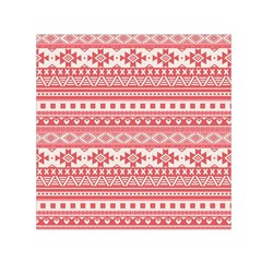 Fancy Tribal Borders Pink Small Satin Scarf (square)