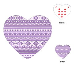 Fancy Tribal Borders Lilac Playing Cards (Heart)