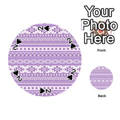 Fancy Tribal Borders Lilac Playing Cards 54 (round)