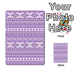 Fancy Tribal Borders Lilac Multi-purpose Cards (Rectangle)