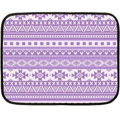 Fancy Tribal Borders Lilac Fleece Blanket (mini)
