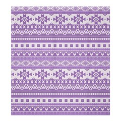 Fancy Tribal Borders Lilac Shower Curtain 66  X 72  (large)