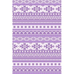 Fancy Tribal Borders Lilac 5.5  x 8.5  Notebooks