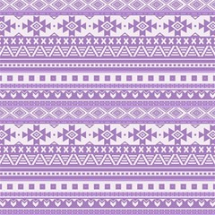 Fancy Tribal Borders Lilac Magic Photo Cubes