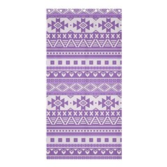 Fancy Tribal Borders Lilac Shower Curtain 36  x 72  (Stall)