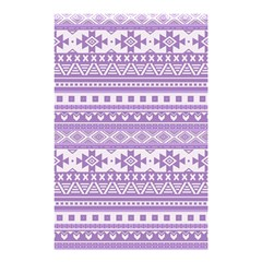 Fancy Tribal Borders Lilac Shower Curtain 48  X 72  (small)