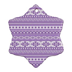 Fancy Tribal Borders Lilac Ornament (Snowflake)