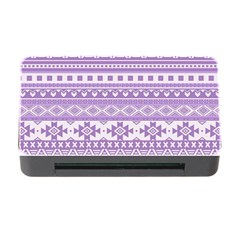 Fancy Tribal Borders Lilac Memory Card Reader with CF