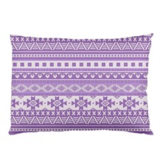 Fancy Tribal Borders Lilac Pillow Cases (Two Sides)
