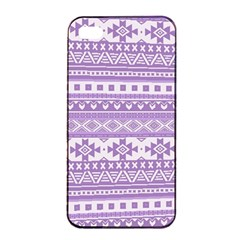 Fancy Tribal Borders Lilac Apple iPhone 4/4s Seamless Case (Black)