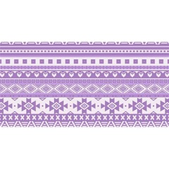 Fancy Tribal Borders Lilac YOU ARE INVITED 3D Greeting Card (8x4)