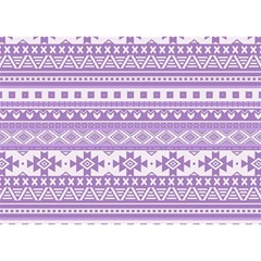 Fancy Tribal Borders Lilac Birthday Cake 3D Greeting Card (7x5)