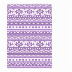 Fancy Tribal Borders Lilac Small Garden Flag (Two Sides)
