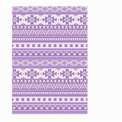 Fancy Tribal Borders Lilac Large Garden Flag (Two Sides)