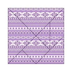 Fancy Tribal Borders Lilac Acrylic Tangram Puzzle (6  X 6 )