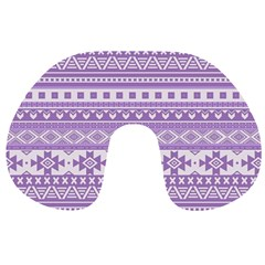 Fancy Tribal Borders Lilac Travel Neck Pillows