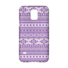 Fancy Tribal Borders Lilac Samsung Galaxy S5 Hardshell Case