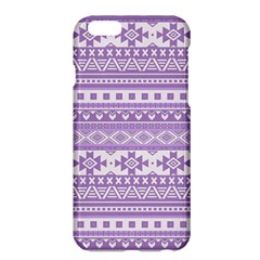 Fancy Tribal Borders Lilac Apple Iphone 6 Plus Hardshell Case