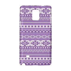 Fancy Tribal Borders Lilac Samsung Galaxy Note 4 Hardshell Case
