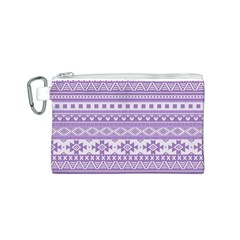 Fancy Tribal Borders Lilac Canvas Cosmetic Bag (s)
