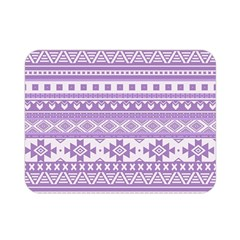 Fancy Tribal Borders Lilac Double Sided Flano Blanket (mini)